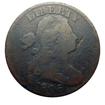 Large cent/penny 1806 mid grade circulated