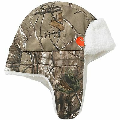 Carhartt Toddler Trapper Hat Camo Real Tree Bubba Sherpa Lined - NWT