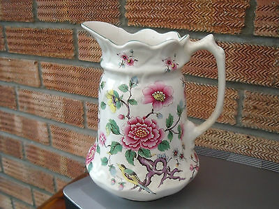 Old Foley James Kent  Jug or Vase 'Chinese Rose' decorated with Birds & Blossom