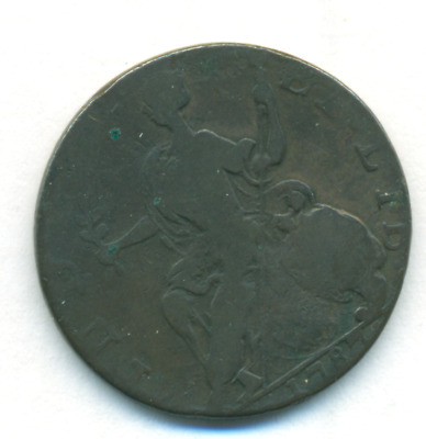 1787 Connecticut Horned Bust Colonial Copper Coin