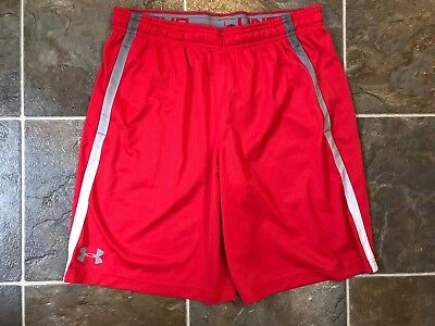 d239ab6f4 NWT UNDER ARMOUR Men's Loose Fit Basketball Athletic Shorts Red Sz XL