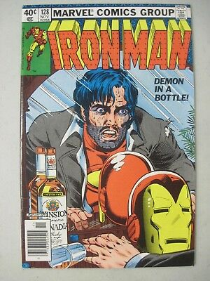 "Iron Man #128 November 1979 Marvel Comics ""demon In A Bottle"""
