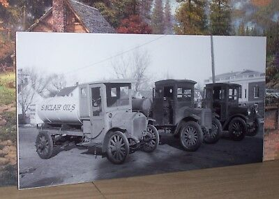 Sinclair Oils Opaline Motor Oil 20x10 Photo Old Delivery Trucks Sinco