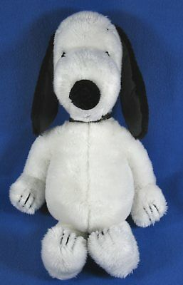 """Vintage 1968 Plush 19"""" Snoopy Dog Peanuts Character Stuffed Animal With Collar"""