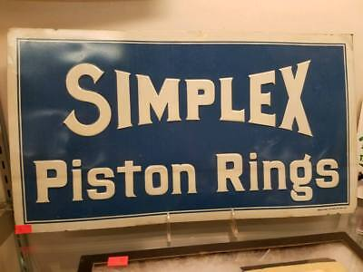 Early 1900's Simplex Piston Rings tin sign. Rare!