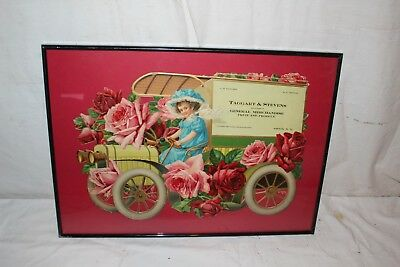 """Rare Vintage c.1905 Fruit & Produce Delivery Truck Car Gas Oil 18"""" Sign New York"""