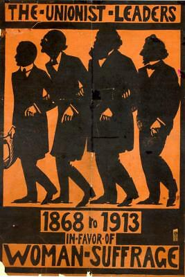 Print. 1913-4. Women's Suffrage.  The Unionist Leaders