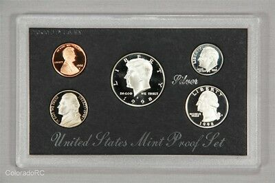 1998 United States Mint Silver Proof Set in Original Mint Packaging