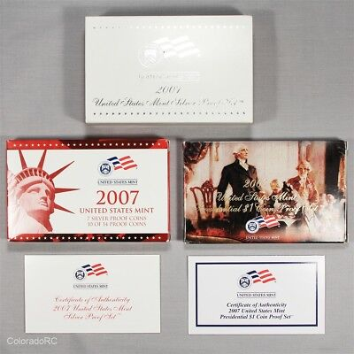 2007 United States Mint Silver Proof Set in Original Mint Packaging w/ COA