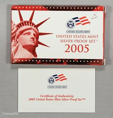 2005 United States Mint Silver Proof Set in Original Mint Packaging w/ COA