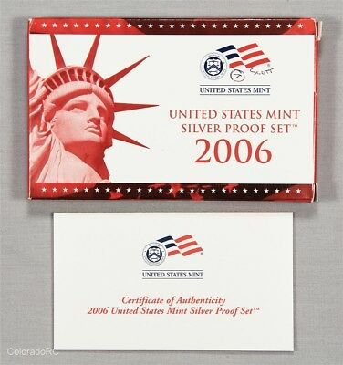 2006 United States Mint Silver Proof Set in Original Mint Packaging w/ COA