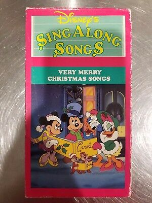 DISNEY'S SING ALONG Songs - Very Merry Christmas Songs (VHS, 1997 ...