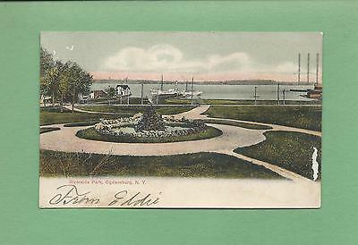 RIVERSIDE PARK In OGDENSBURG, NY On Vintage 1907 Postcard