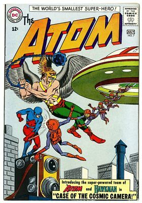 Atom #7 NM- 9.2 white pages  Hawkman x-over  DC  1963  No Reserve