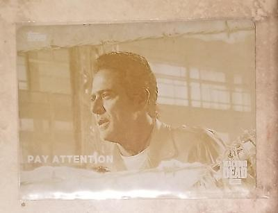 2017 Topps  Walking Dead Season 7 Pay Attention 1/1 Yellow Printing Plate #66