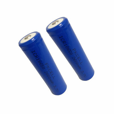 2x Protected ICR 18650 2600mah 3.7V Rechargeable Li-ion Battery For Vape Torch