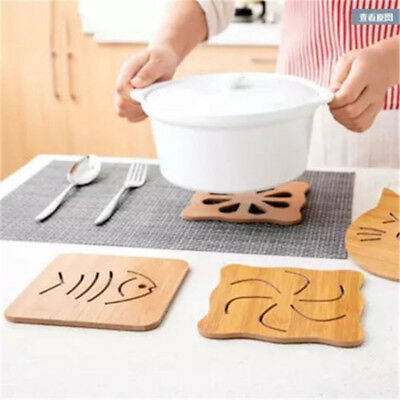 Wooden Cute Shapes Table Decor Mat Dining Cup Pad Plate Mats Placemats Tableware