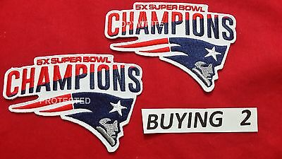 SUPER BOWL 51 NEW ENGLAND PATRIOTS PATCH 5X CHAMPIONS Hat Jersey NCAA Tickets