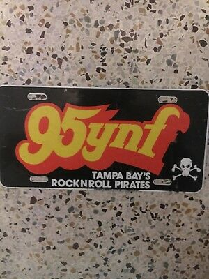 1980S 95YNF Tampa Bay's Rock 'N' Roll Pirates License Plate/Collectible/FM radio