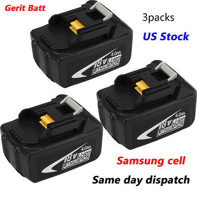 3xReplacement for Makita 18V Battery 4.0AH BL1840 LXT BL1830 BL1850 BL1860 Tools
