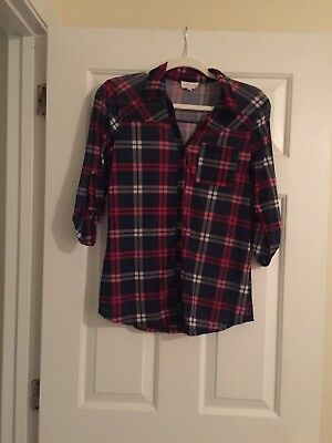 Plaid Maternity Shirt By Siren Lily Sz Small