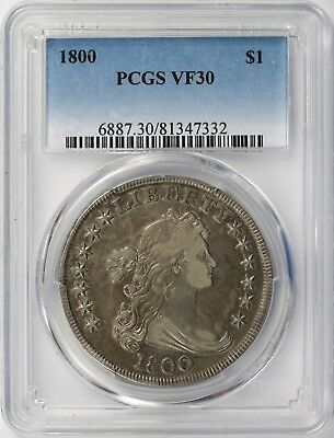 1800 $1 Draped Bust Silver Dollar PCGS VF30