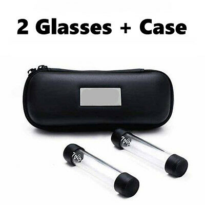 Newly Designed Twisty Glass Blunt Accessories REPLACEMENT GLASSES+LEATHER CASE