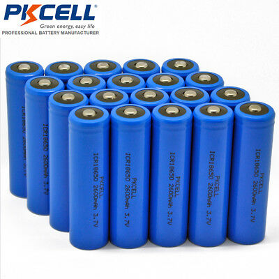 64PCS ICR18650 2600mAh 3.7V Li-ion LED Flashlight Torch Rechargeable Battery