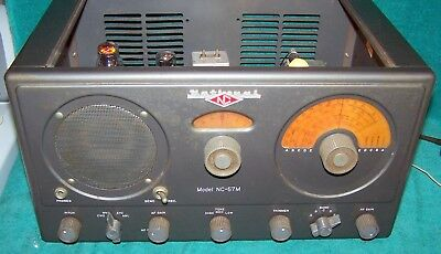 Unusual 1951 National Radio NC-57M Short Wave Set / Marine Version - Clean/Works