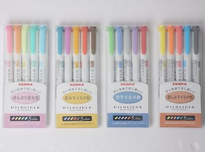Zebra Mildliner Soft Color Double-Sided  Highlighter Marker Pen 20-Color 4 sets