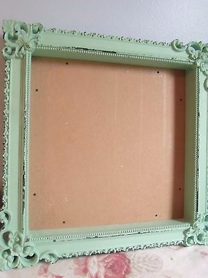 Beautiful Shabby Chic Style Frame Chippy Paint Ornate Frame and Back Board LARGE