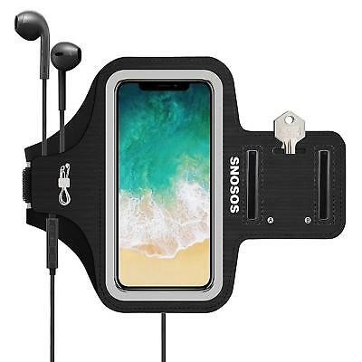 iPhone X Armband,SOSONS Water Resistant Sports Gym Armband Case for iphone...