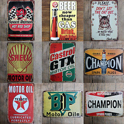 Vintage Metal Tin Sign Plaque Poster Bar Wall Pub Home Decor Club Retro Kitchen
