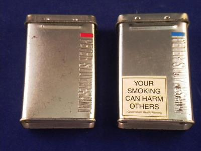 Tobacco tins. Peter Stuyvesant metal Cigarette containers x 2. 12mg and 8mg