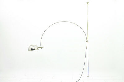 Florian Schulz Ceiling to Floor Arc Lamp, Bogenlampe, Germany 1970s Designer