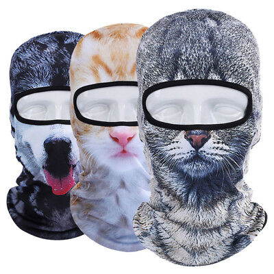 3D Animal Outdoor Bicycle Cycling Ski Hat Balaclava Full Face Mask Cat Dog Hot
