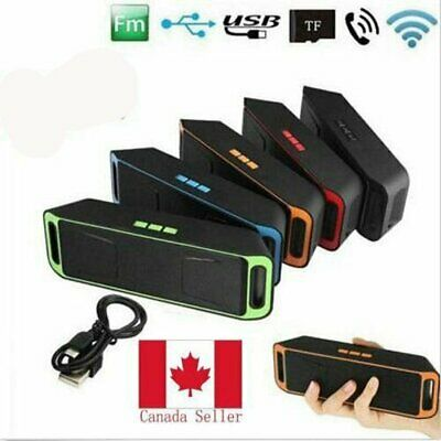 Portable Wireless Bluetooth Speaker USB Flash FM Radio Stereo Bass MP3 Player CA