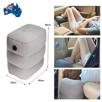 3 Layer Portable Inflatable Foot Rest Pad Footrest Pillow Plane Train Travel Bed