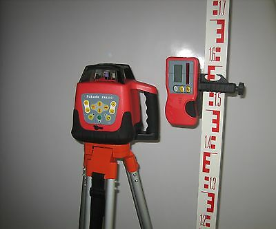 FRE203 Automatic Rotary Laser Level with Tripod and Staff