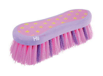 HySHINE Star Easy Grip Dandy Brush 20 x 8cm Pink/Lilac 4587