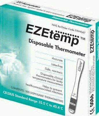 Thermometer Box of 100 EZEtemp Zeal Disposable