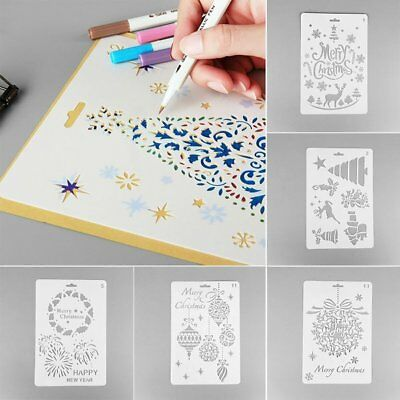 New Xmas Layering Hollow Stencils Scrapbooking Stamps Embossing Flower Template