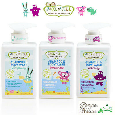 Jack n' Jill Natural Bathtime Shampoo & Body Wash - 3 Varieties to choose from