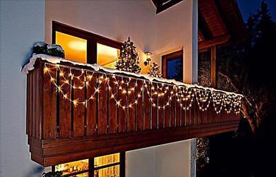 led lichterkette lichtervorhang bogen 160 leds au en balkon weihnachtsdeko 5m eur 31 90. Black Bedroom Furniture Sets. Home Design Ideas