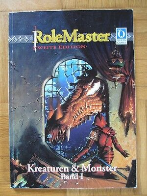 KREATUREN & MONSTER Band I RoleMaster Zweite Edition 1997 – Deutsch Queen Games