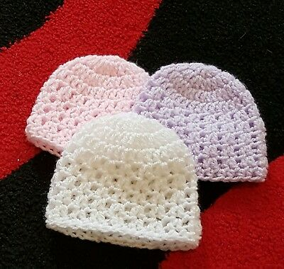 Pack of 3  baby Hats  in premature 31b - 5.51b
