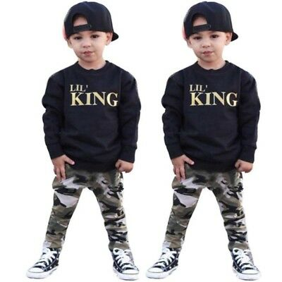 NEW Newborn Toddler Infant Kids Baby Boy Clothes T-shirt Tops Pants Outfits Set