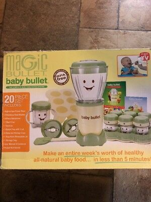 Magic Bullet/baby Bullet 20 Piece Baby Food Making System Model Bbr-2001 Nib
