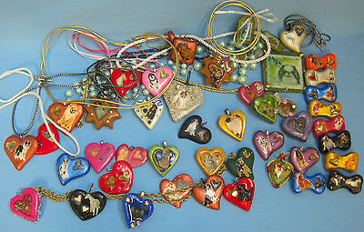 Dog Breeds Puppy Animals Brooch Pins Pendants Clay Resin Large Lot