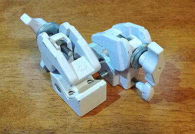 Pair of Manfrotto Art. 035 Super Clamps in White (2 clamps)
